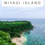 Lush green Happy Cliff overlooking turquoise water on Miyagi island